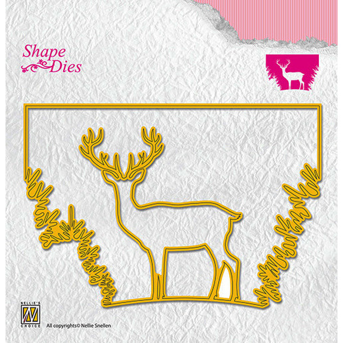 Shape dies Christmas winow scene