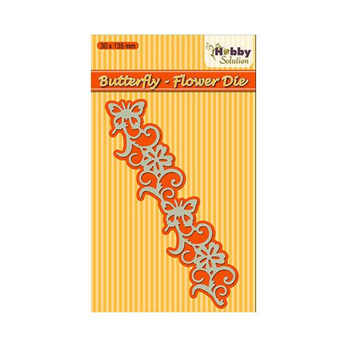 Hobby solutions Die Cut Butterfly flower border