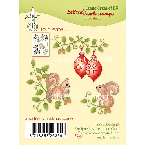 Combi clear stamp Christmas scene