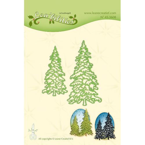 Leabilitie® Christmas trees snij en embossing mal