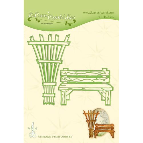 Leabilitie® Garden bench en trellis snij en embossing mal