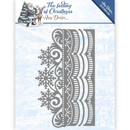 Die - Amy Design - The feeling of Christmas - Ice chyristal border