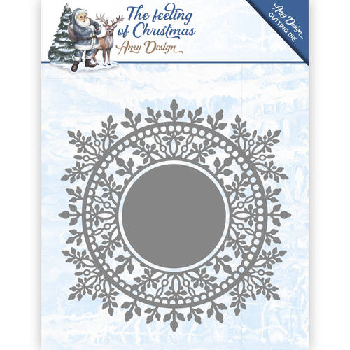 Die - Amy Design - The feeling of Christmas - Ice chyristal circle