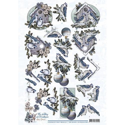 3D Knipvel - Amy Design - The feeling of Christmas - Christmas birds