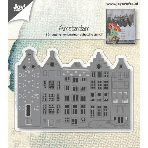 Cut-embos-debos-3D stencil - Hollandse Huizenrij