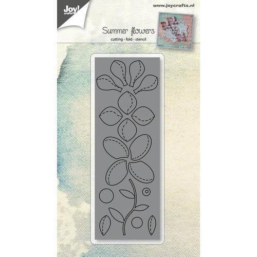 Snijstencil - Bloemen met vouwlijn