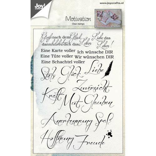 Clearstempel - Spreuken Motivatie Duits