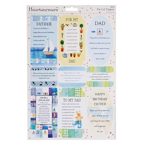 A4 Die-Cut Heartwarmer Sparkling Sentiments - (Dad 2)