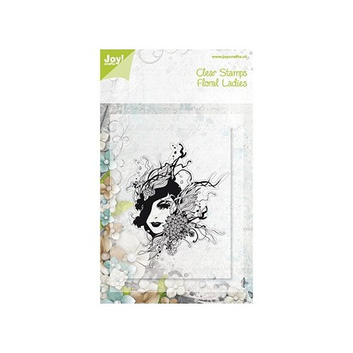 Joy clear stamps - floral lady