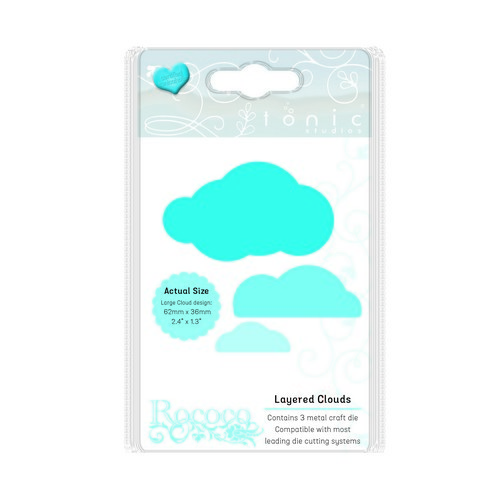 Tonic Studios Die - Rococo petite - layered clouds set 1661E (08-17)