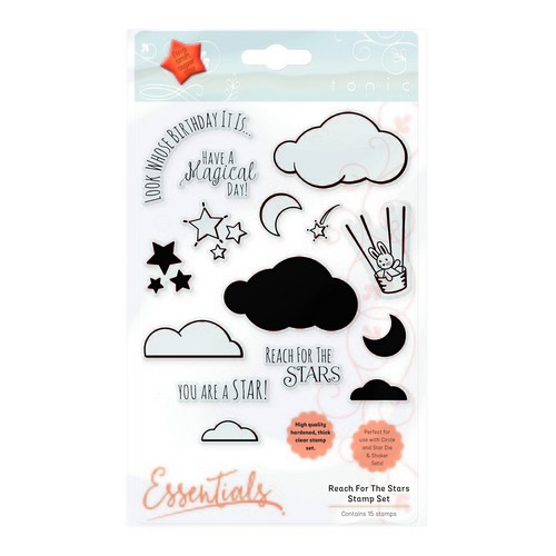 Tonic Studios - reach for the stars clearstamp shaker set 1658e (08-17)