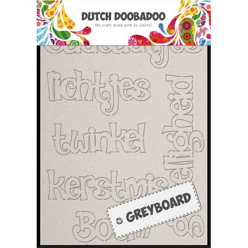 Dutch Doobadoo Dutch Greyboard Art kerst (NL) A6 492.002.004 (08-17)