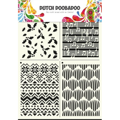 Dutch Doobadoo Dutch Mask Art multi stencil Xmas  A4 470.715.810 (08-17)