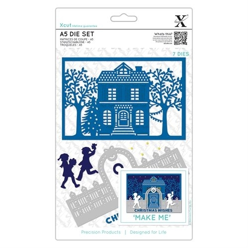 A5 Die Set - Christmas House