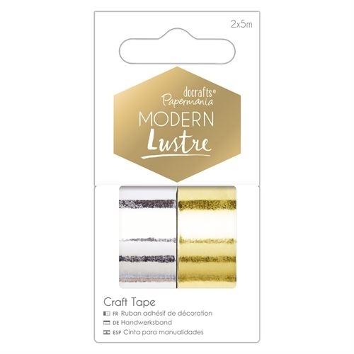 5m Metallic Craft Tapes (2pk) - Modern Lustre