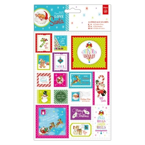 A5 Postage Stamps (32pcs) - Love Santa