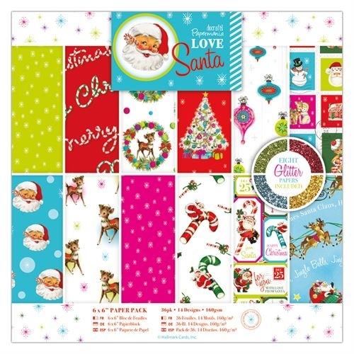 """6 x 6"""" Paper Pack (36pk) - Love Santa"""