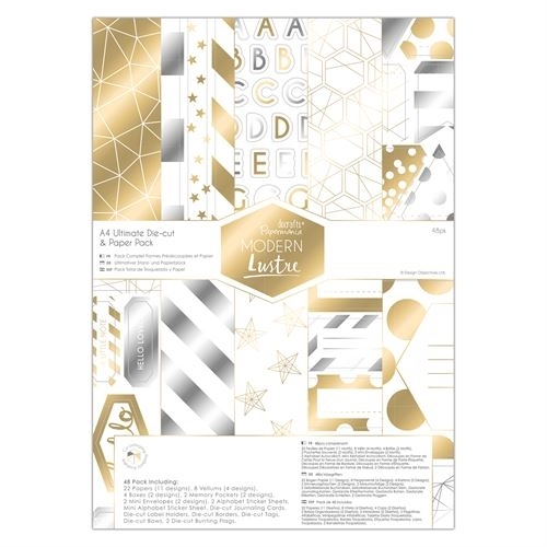A4 Ultimate Die-cut & Paper Pack (48pk) - Modern Lustre