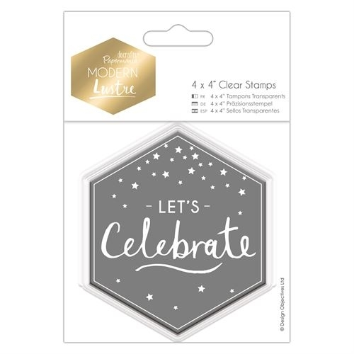 "4 x 4"" Clear Stamp - Modern Lustre - Let's Celebrate"