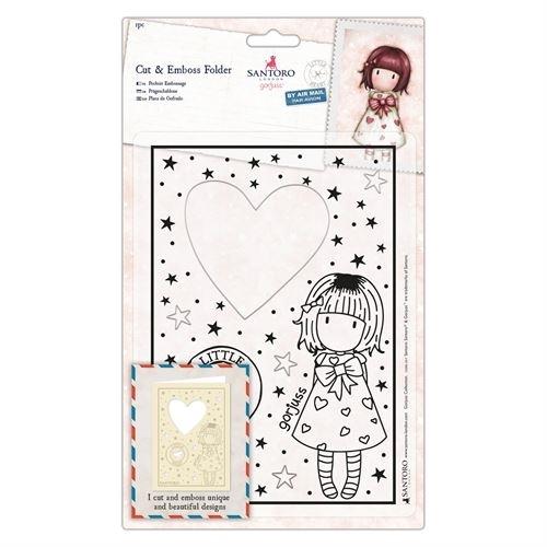 Cut & Emboss Folder - Santoro - Little Heart