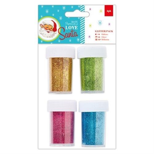 Glitter Pack (4pk) - Love Santa
