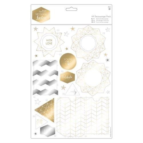A4 Decoupage Pack - Modern Lustre