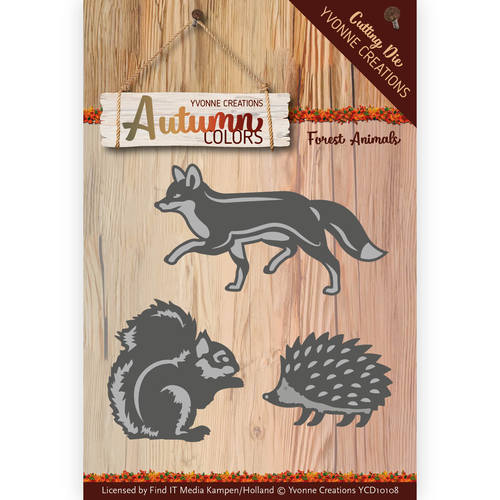 Die - Yvonne Creations - Autumn Color- Forest Animals