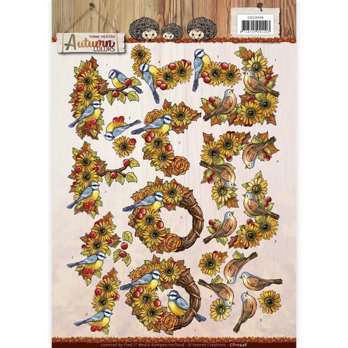 3D Knipvel - Yvonne Creations - Autumn Colors - Autumn Birds