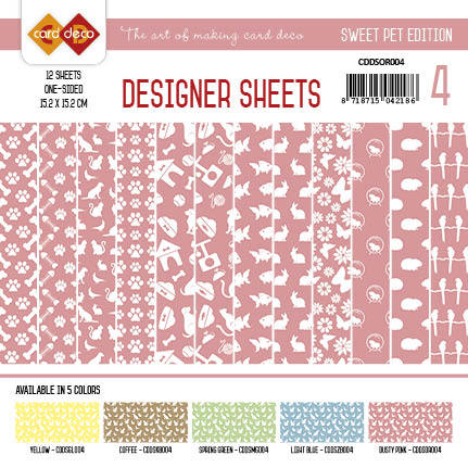 Card Deco - Designer Sheets - Pets-Oudroze