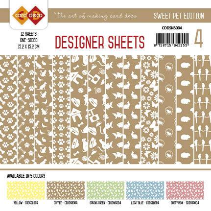 Card Deco - Designer Sheets - Pets-Koffiebruin