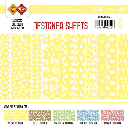 Card Deco - Designer Sheets - Pets-geel