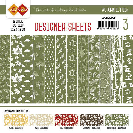 Card Deco - Designer Sheets - Autumn-Mosgroen