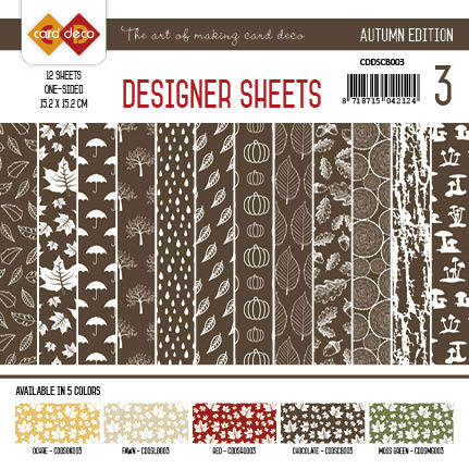 Card Deco - Designer Sheets - Autumn-Chocoladebruin