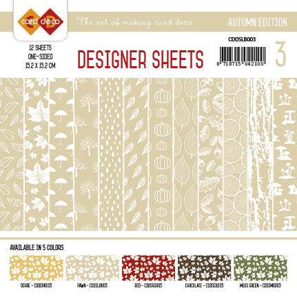 Card Deco - Designer Sheets - Autumn-lichtbruin