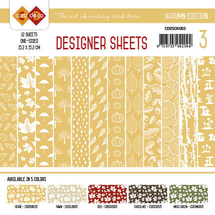 Card Deco - Designer Sheets - Autumn-Oker-