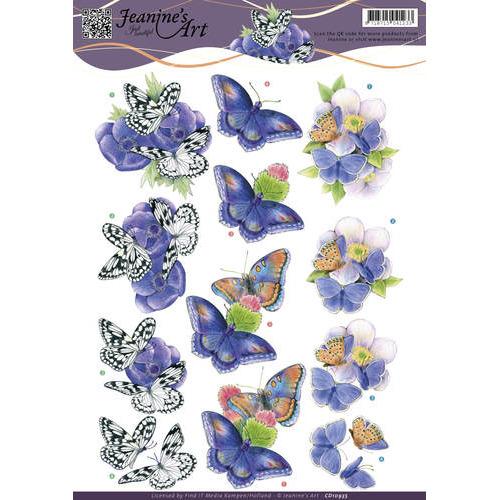 3D Knipvel - Jeanine`s Art - Butterfly