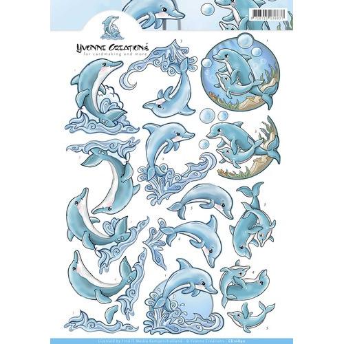 3D Knipvel - Yvonne Creations - Dolphin