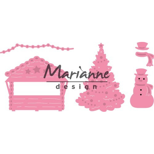 Marianne D Collectable Village decoratie set 5 COL1440  (09-17)