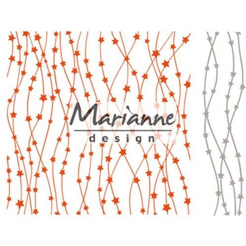 Marianne D Embossing folder Hemelse sterren DF3439 (09-17) 15,2x15,4cm
