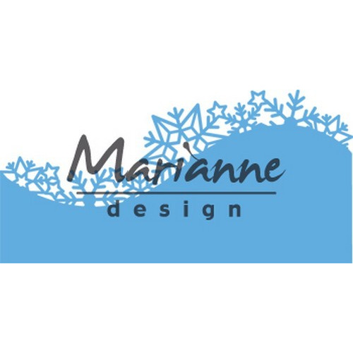 Marianne D Creatable Border Ice crystals LR0486 (09-17)