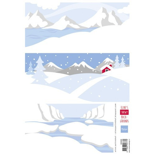 Marianne D 3D Knipvellen Eline`s Snowy backgrounds AK0069 A4 (09-17)