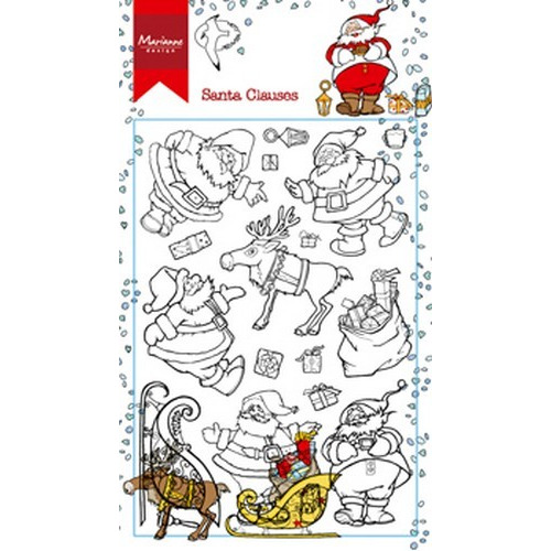 Marianne D Stempel Hetty`s kerstmannen HT1624 (09-17) 9,5x14,0cm