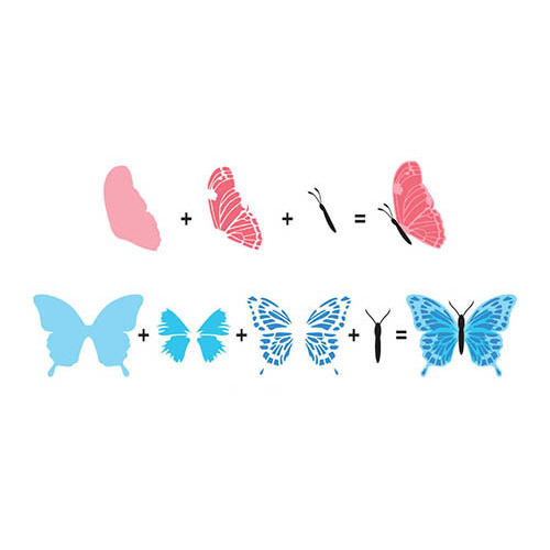 Hobby solution 3D clear stamps butterflies