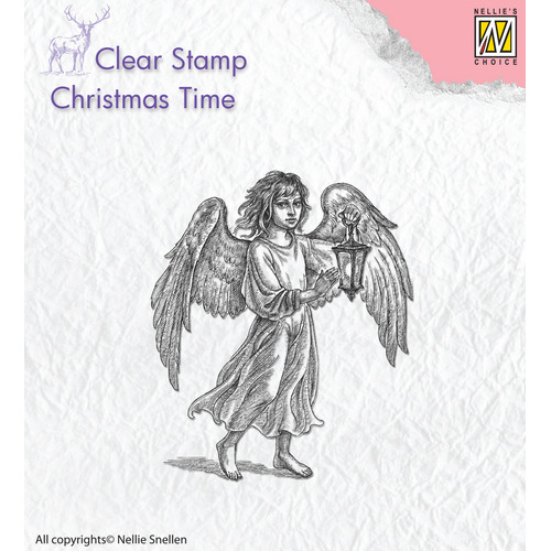 Clear stamps Angel with latern