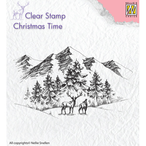 Clear stamps Winterlandscape