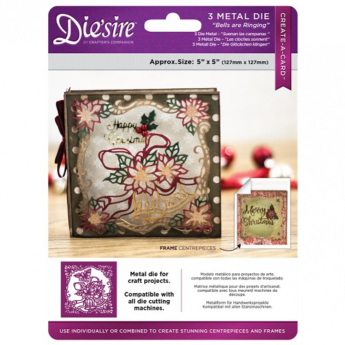 Die`sire 13x13 cm Create a Card kerst snijmal - Bells are Ringing (De klokken luiden)
