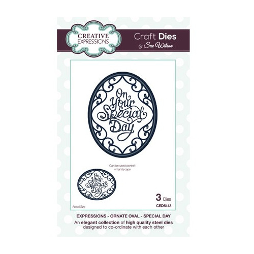The Expressions Collection - Ornate Oval - Special day
