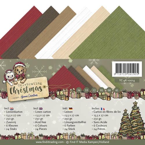 Linnenpakket - 4K - Yvonne Creations - Celebrating Christmas
