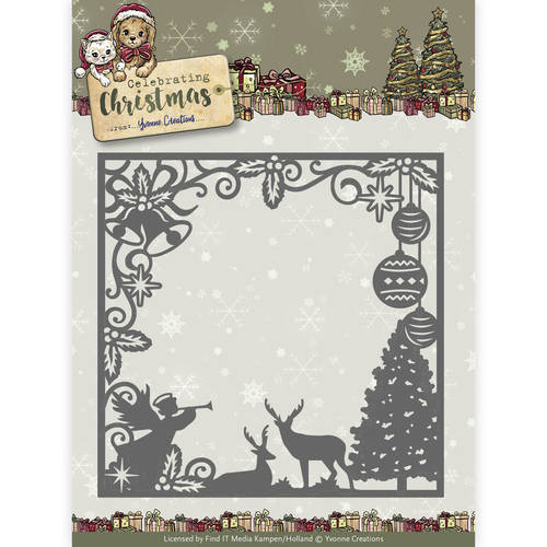 Die - Yvonne Creations - Celebrating Christmas- Scene Square Frame