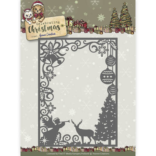 Die - Yvonne Creations - Celebrating Christmas- Scene Rectangle Frame